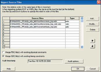 Рис. 2. Окно пакета и панель добавления файловв проект
