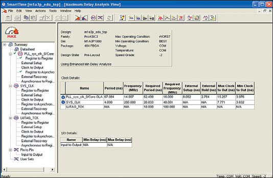 Рис. 8. Timing Analyzer