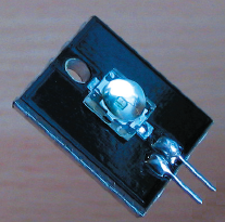 Рис. 4. Фото светодиода DORADO на радиаторе из Al PCB