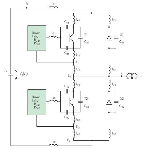 Цепь коммутации IGBT инвертора