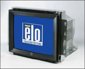 Пример монитора на ЭЛТ с установленным сенсорным экраном (EloTouch, США)
