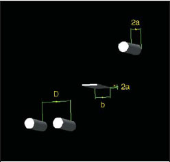 Трехмерный чертеж уединенного круглого провода, линии из двух круглых параллельных проводов и уединенного ленточного провода