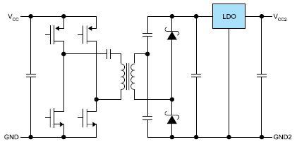 Cхема изолированного DC/DC-преобразователя