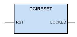 Образ компонента, формируемого с помощью шаблона DCI Reset Component (DCIRESET)