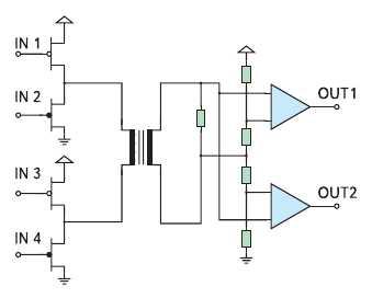 Рис. 2. Упрощенная принципиальная схема цифровой передачи данных