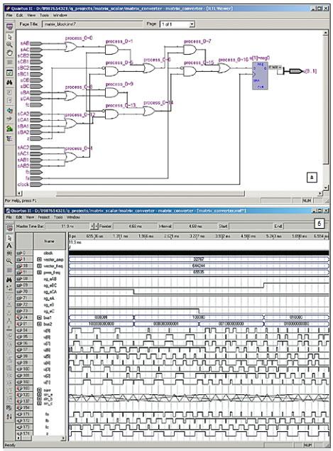 Логический модуль в составе блока 5; б) окно временного анализатора (Classic Timing Analizer) в среде Quartus II