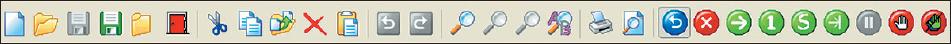 Рис.11. Оперативная панель управления основного окна интегрированной среды разработки и отладки микропроцессорных программ pBlaze IDE