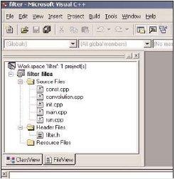 Рис. 16. Вид ИСР VS после создания всех необходимых файлов проекта