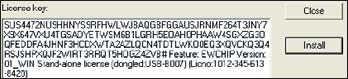Рис. 8. Окно License key с текстом постоянного ключа