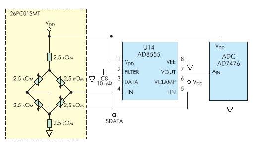 Пример применения ИС AD8555