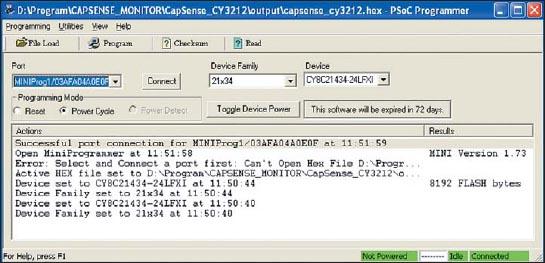 Утилита для программирования микроконтроллеров PSoC — PSoC Programmer