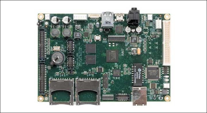 Рис. 6. Одноплатный компьютер Graphics ClientM с процессором PXA320