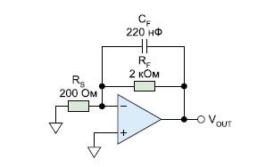 Снижение шума  при помощи конденсатора обратной связи