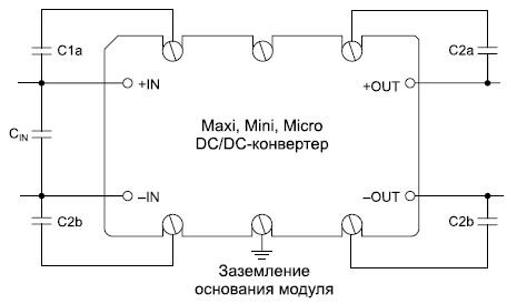 Рекомендуемые помехоподавляющие конденсаторы