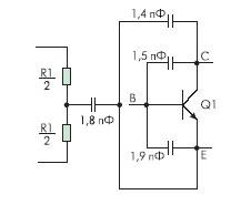 Схема электрическая эквивалентная одного кристалла РБПН001