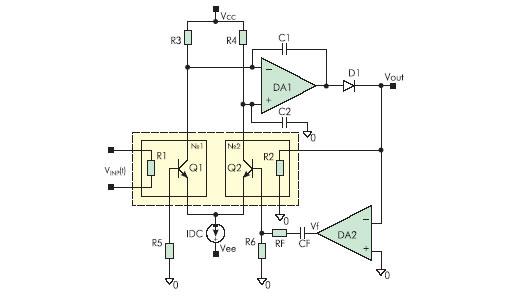 Схема включения ДТЭП для обработки медленно изменяющихся входных сигналов