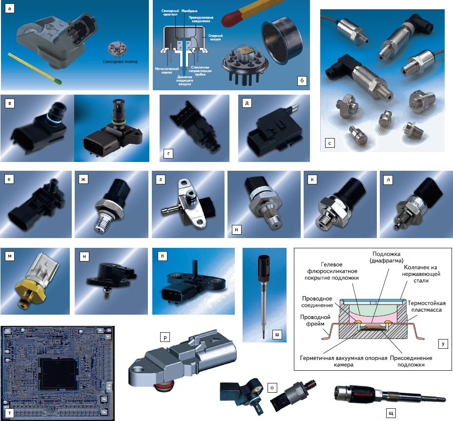 Рис. 4. Примеры автомобильных датчиков давления (систем Powertrain и контроля эмиссии)