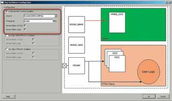 Конфигурирование IP-ядра генератора