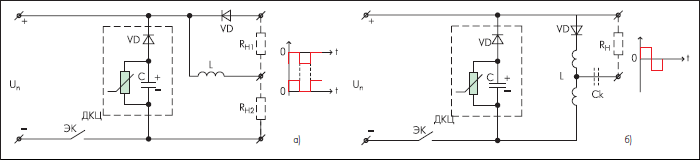Структуры однотактных инверторов с C-R-VD пассивными демпферно-коммутационными цепочками