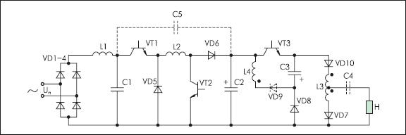 Бестрансформаторный преобразователь частоты с коррекцией потребляемой мощности