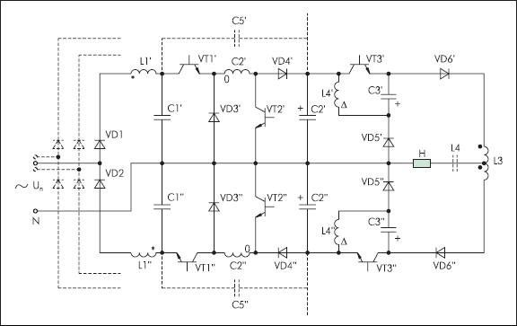 Бестрансформаторный преобразователь частоты с коррекцией потребляемой мощности и общим заземлением