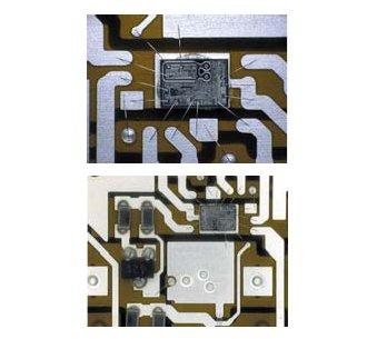 Рис. 11. Интегральная схема драйвера и smd компоненты на гибкой плате