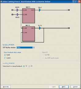 Вид диалоговой панели, предназначенной для выбора структуры формируемого блока синхронизации, без использования выходного триггера