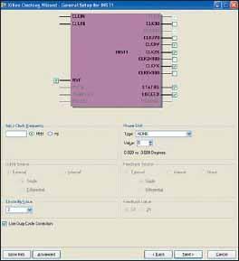 Диалоговая панель выбора основных параметров первого модуля DCM (INST1) General Setup For INST1