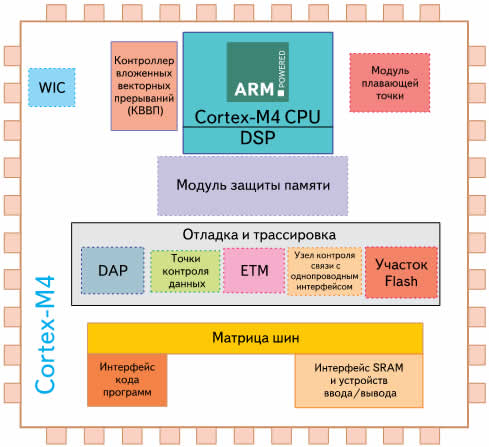 Структура ядра Cortex-M4