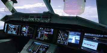 Применение системы HUD отThales насамолете Airbus A350-XWB
