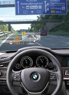 Контактно-аналоговые HUD в автомобилях BMW