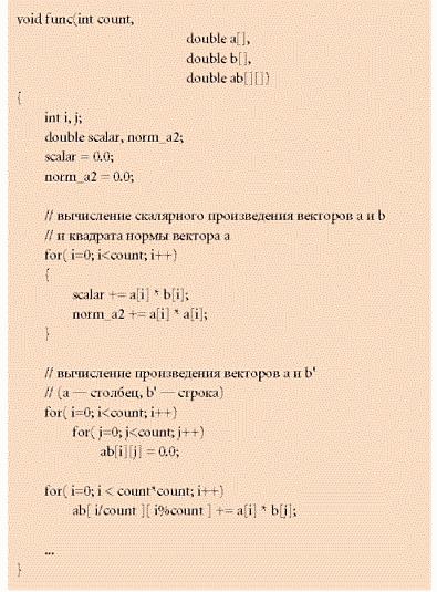 На рис. 3 изображен граф передачи управления после применения алгоритма для операторов на самом верхнем уровне вложенности, на рис. 4 — после применения алгоритма для блоков всех уровней.