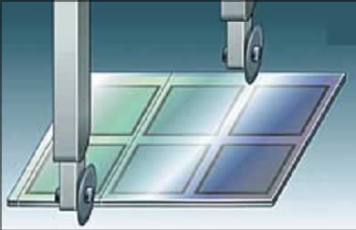 Скрайбирование алмазными дисками и разделение на отдельные панели