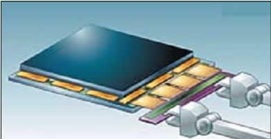 Установка шлейфов для контакта с печатной платой управления (TCON)