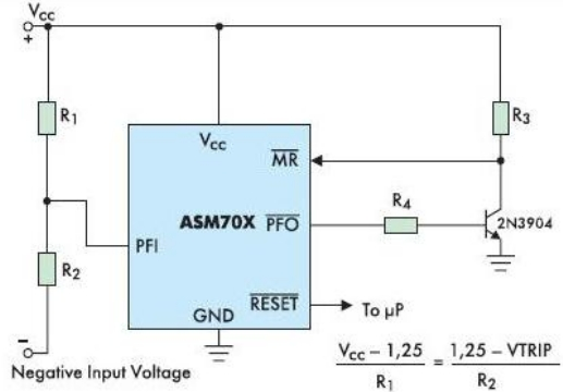 Контроль отрицательного напряжения ASM70x