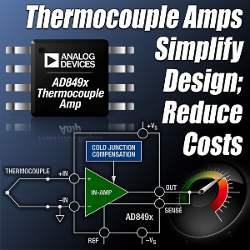 Усилители для термопар с компенсацией холодного спая