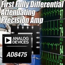 Новый дифференциальный прецизионный усилитель AD8475