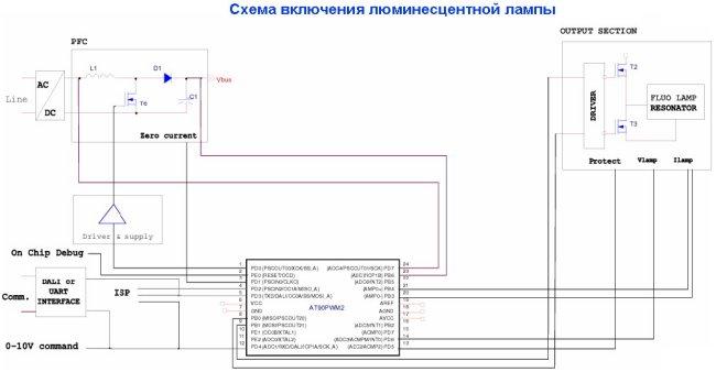 Схемы включения микроконтроллеров AT90PWM в различных приложениях