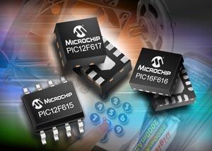 Новые 8- и 14-выводные микроконтроллеры семейства PIC12/16F61X общего назначения