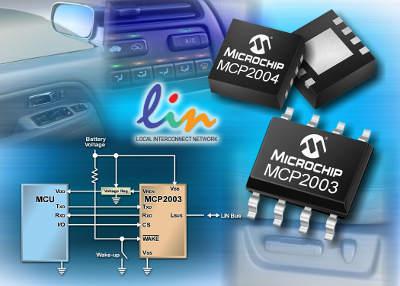 Новые автономные LIN-трансиверы от Microchip