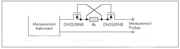 Рисунок 1. Применение DMOS транзисторов Supertex в измерительных приборах в качестве ограничителя тока