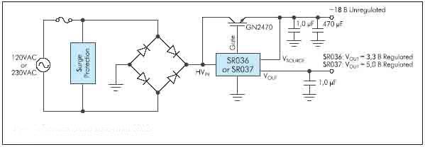 Рисунок 9. Типовая схема включения SR03x