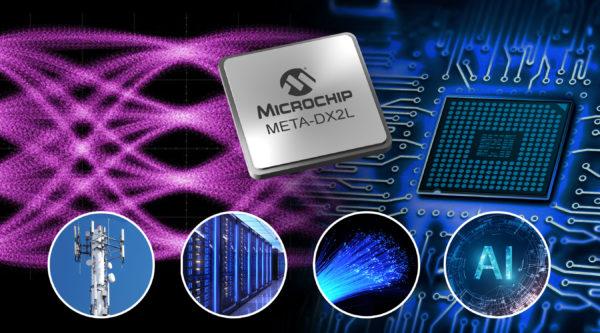 1,6-Тбит/с устройство Ethernet PHY от Microchip с подключением до 800 GbE для облачных ЦОДов, 5G-сетей и ИИ