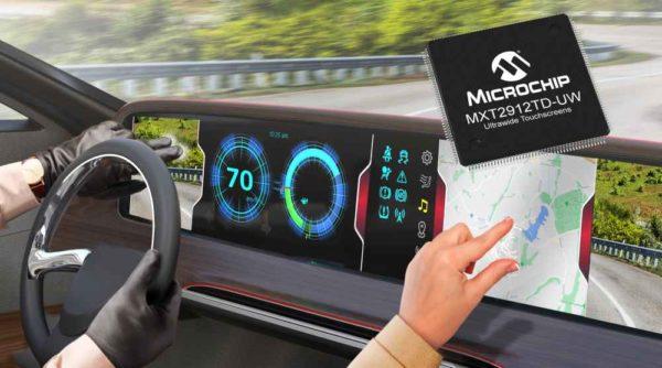 Новейший контроллер сенсорного экрана maXTouch от Microchip