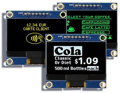 Графический OLED модуль 1,54″ на монтажной печатной плате с контрастностью 10 000:1 от Raystar Optronics