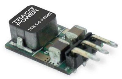 Новая серия 1,5 А, высокоэффективных понижающих коммутационных регуляторов от Traco Power TSR 1.5E