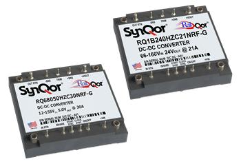 Новые преобразователи SynQor серии RailQor для применения в системах питания железнодорожного транспорта