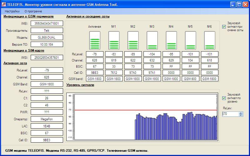 Программа для определения уровня GSM-сигнала